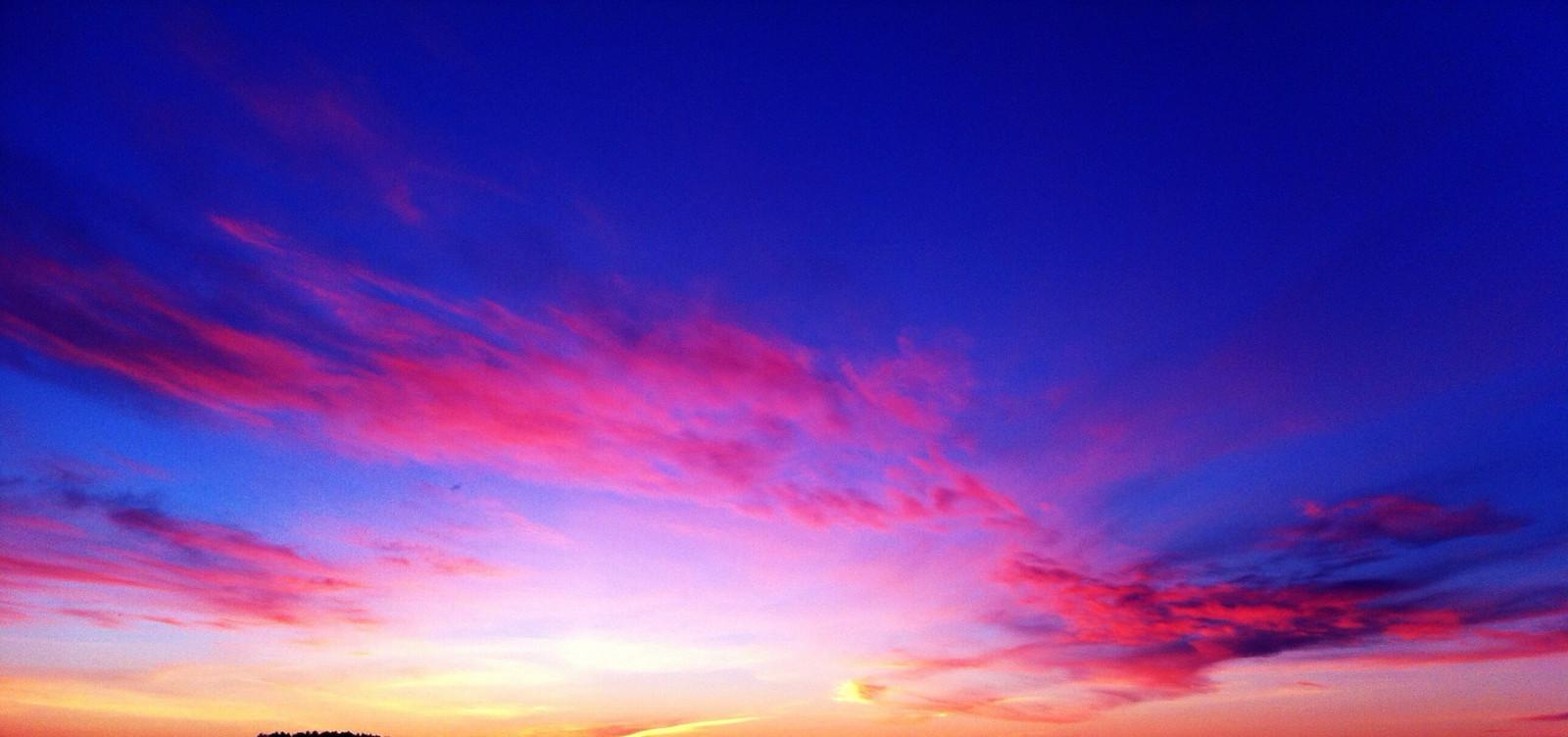 Wallpaper : pink, blue, sunset, sky, orange, cloud, night, clouds, colorful, purple ...