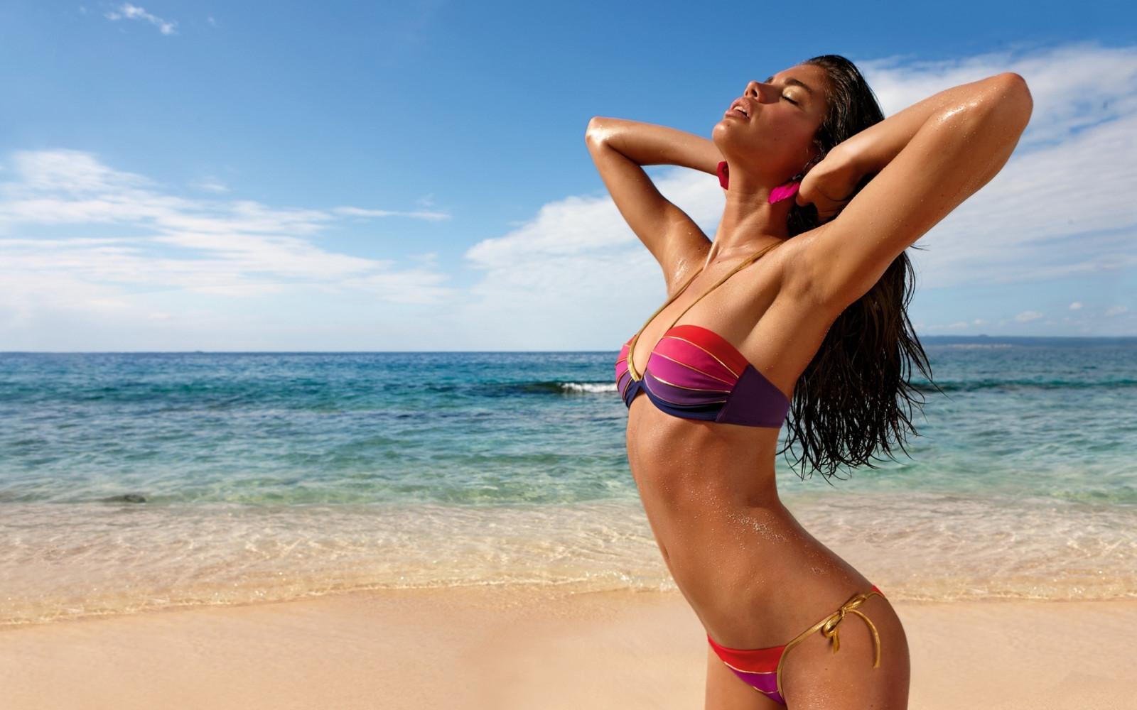 Пляж фото крас девушек