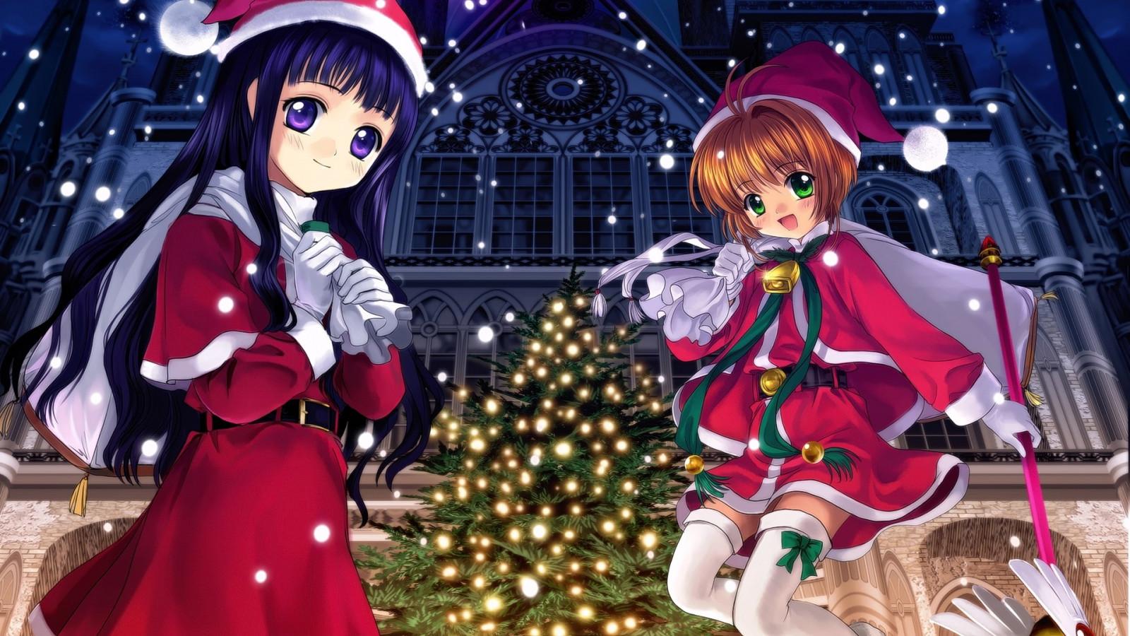 hintergrundbilder anime m dchen weihnachten spielzeug. Black Bedroom Furniture Sets. Home Design Ideas