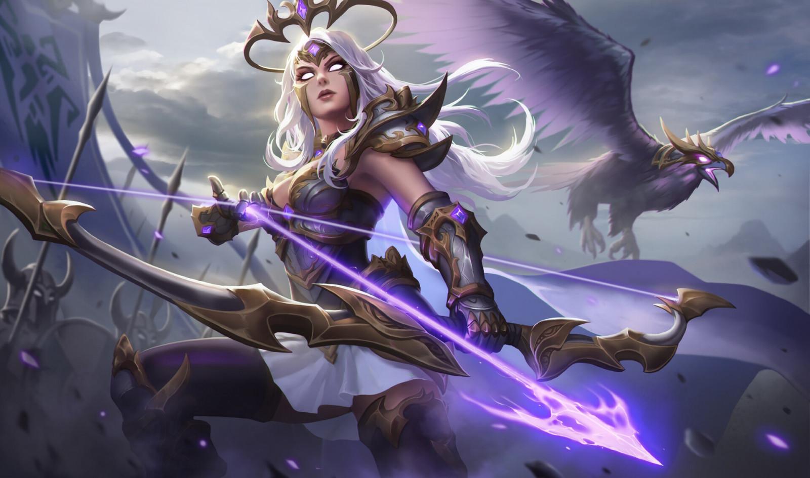 Wallpaper girl, bow, art, armor, hunter, Archer images for