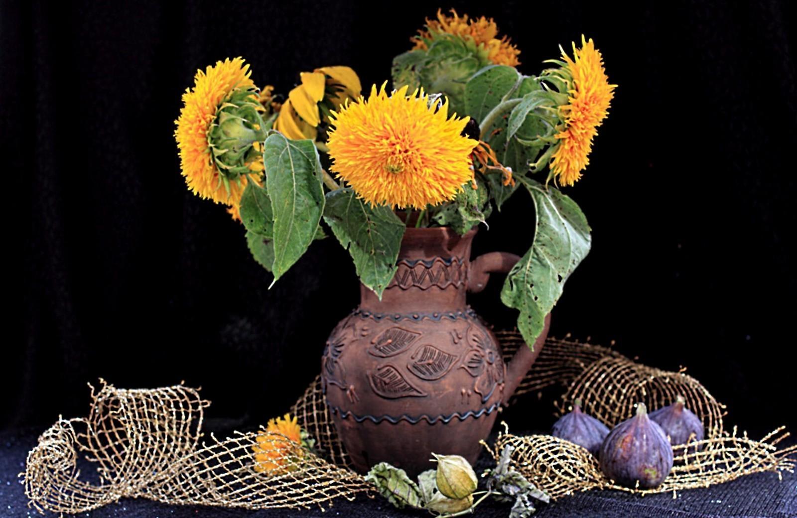 Masaüstü Boyama çiçekler Sarı Kafes Fizikal Sanat çiçek