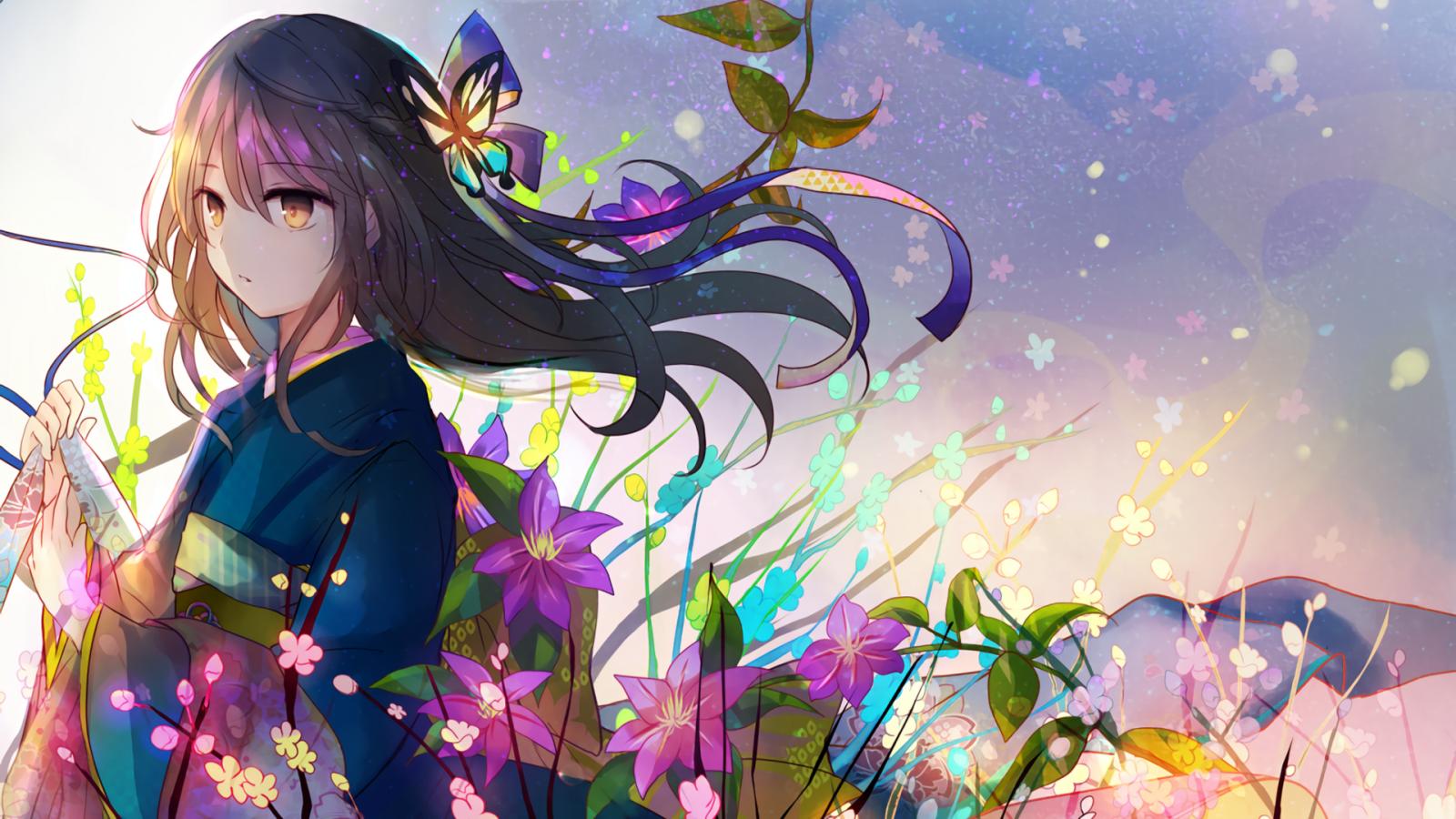Fond d'écran : illustration, Anime, Manga, ART, Couleur, fleur 1920x1080 - nightelf87 - 45577 ...
