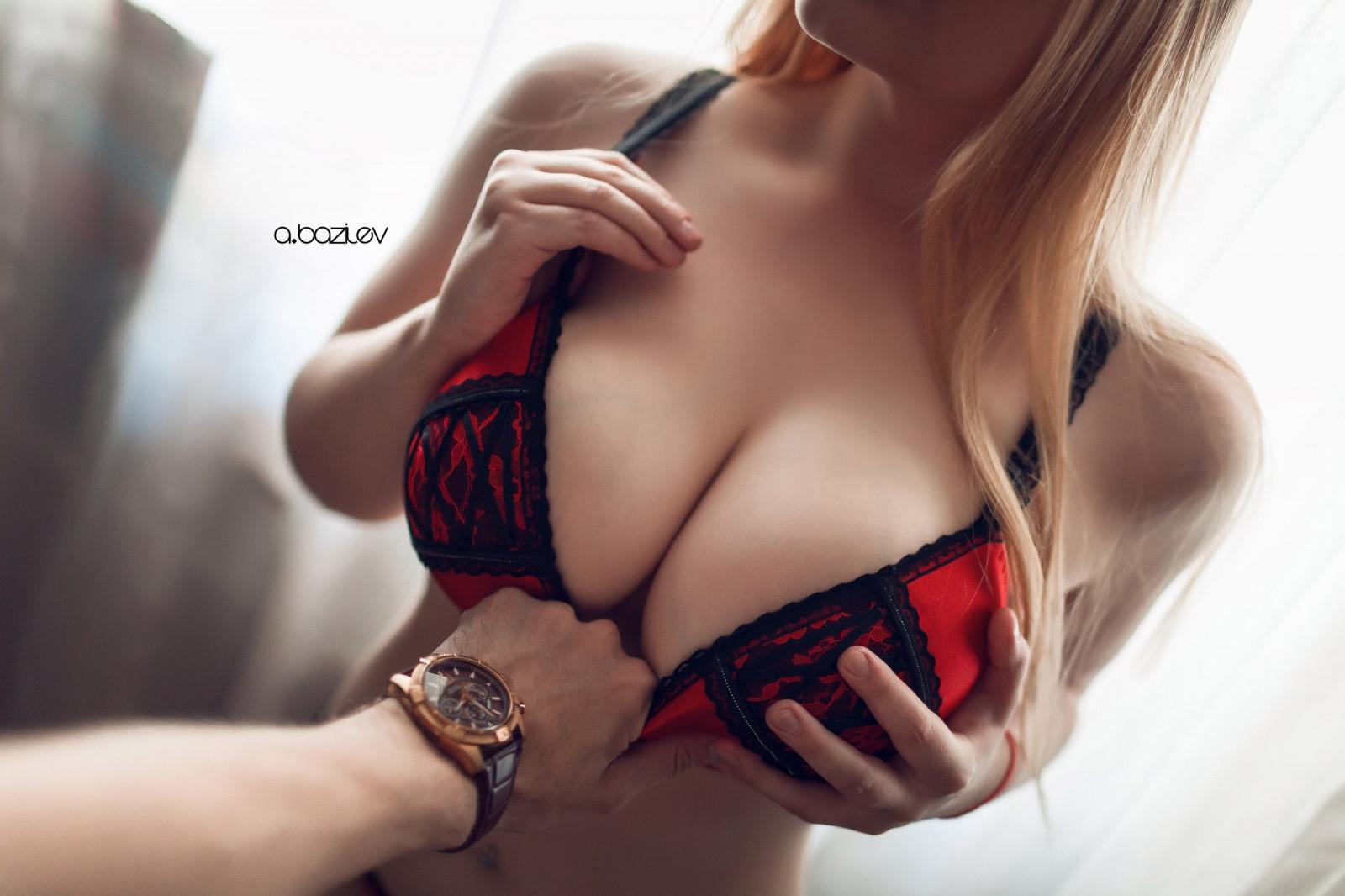 Pov Große Unterwäsche Titten Blondine Big Tits