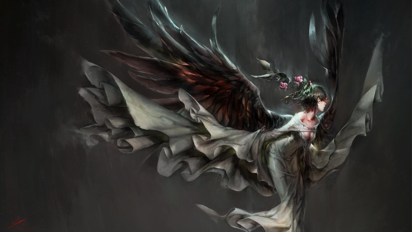 Wallpaper : anime girls, demon, mythology, angel wings ...