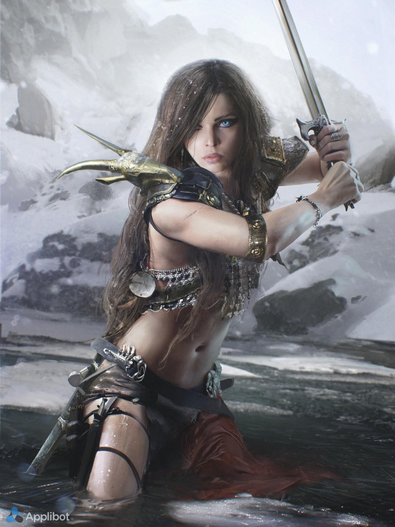 Женщина воин фото картинки
