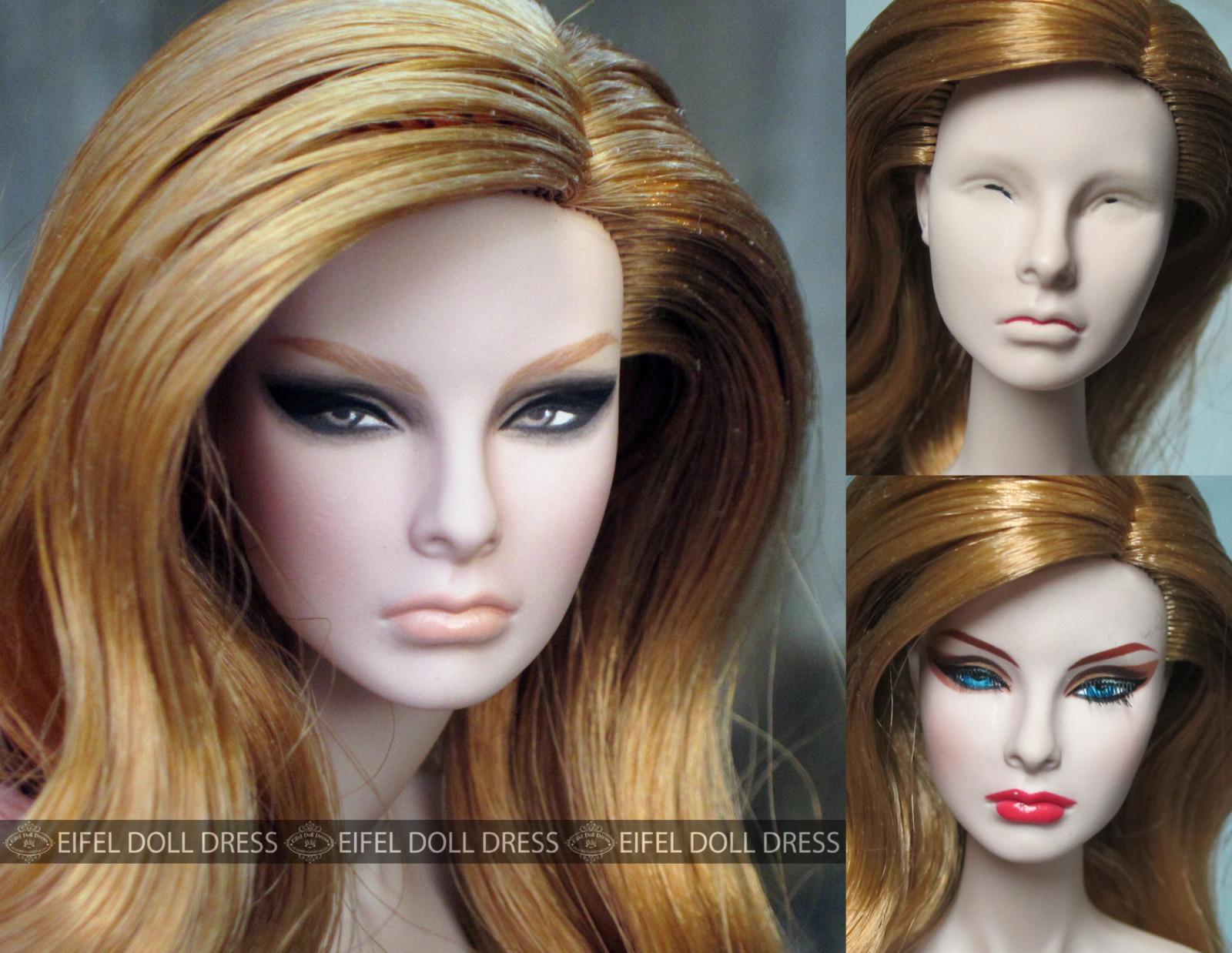 Masaüstü Insan Saçı Rengi Oyuncak Bebek Sarışın Saç Boyama