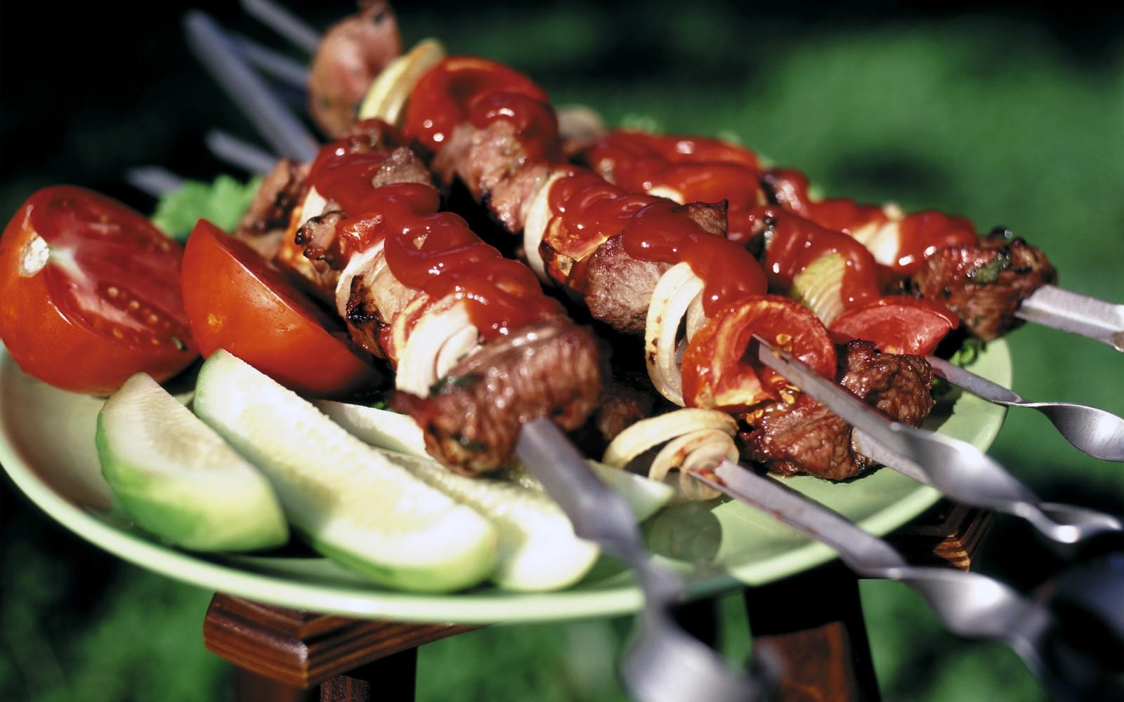 Шашлык из свинины, маринованый в помидорах - пошаговый 89