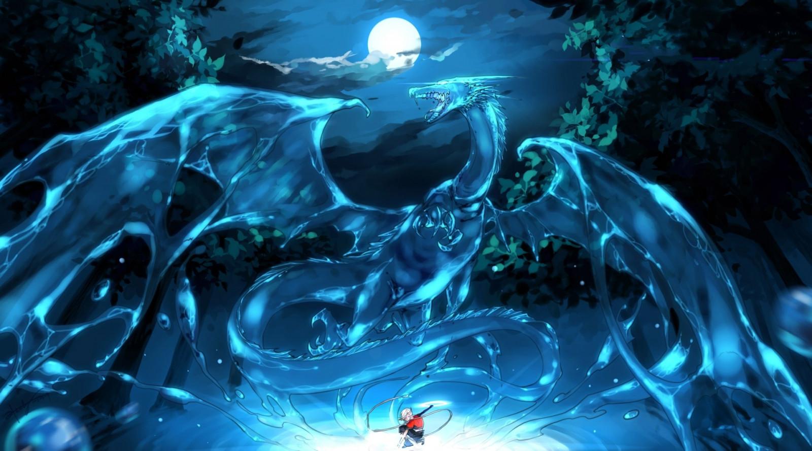Sfondi Anime Acqua Spazio Cielo Terra Blu Subacqueo Drago