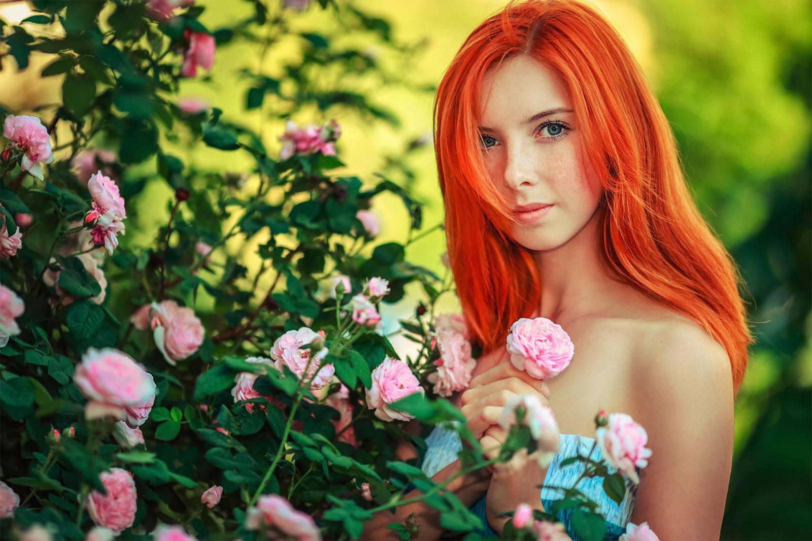 фотографии ярко рыжих девушек - 3