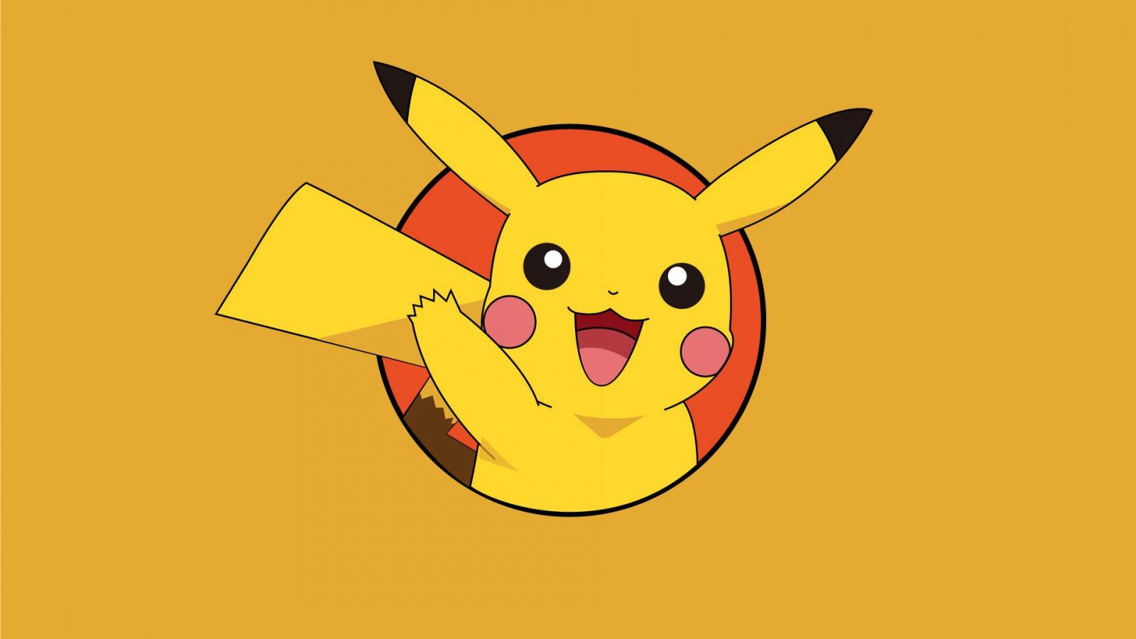 Fond d 39 cran illustration anime logo jaune dessin - Pikachu dessin anime ...