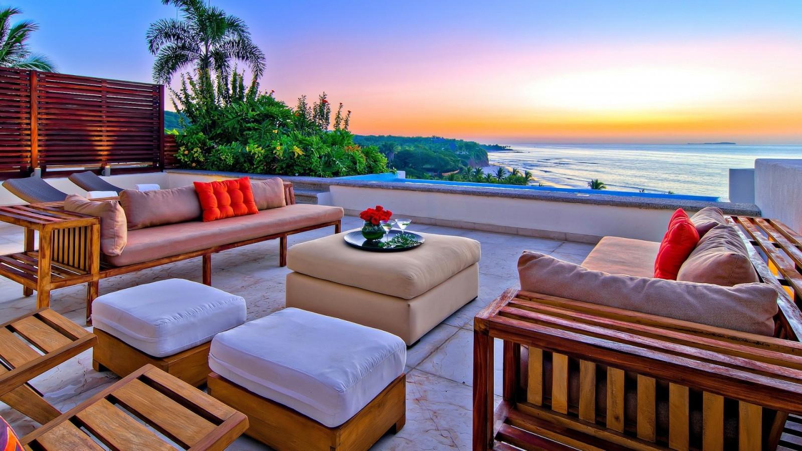 Fond d'écran : chambre, plage, relaxant, piscine, recours, Caraïbes, chalet, vacances, biens ...