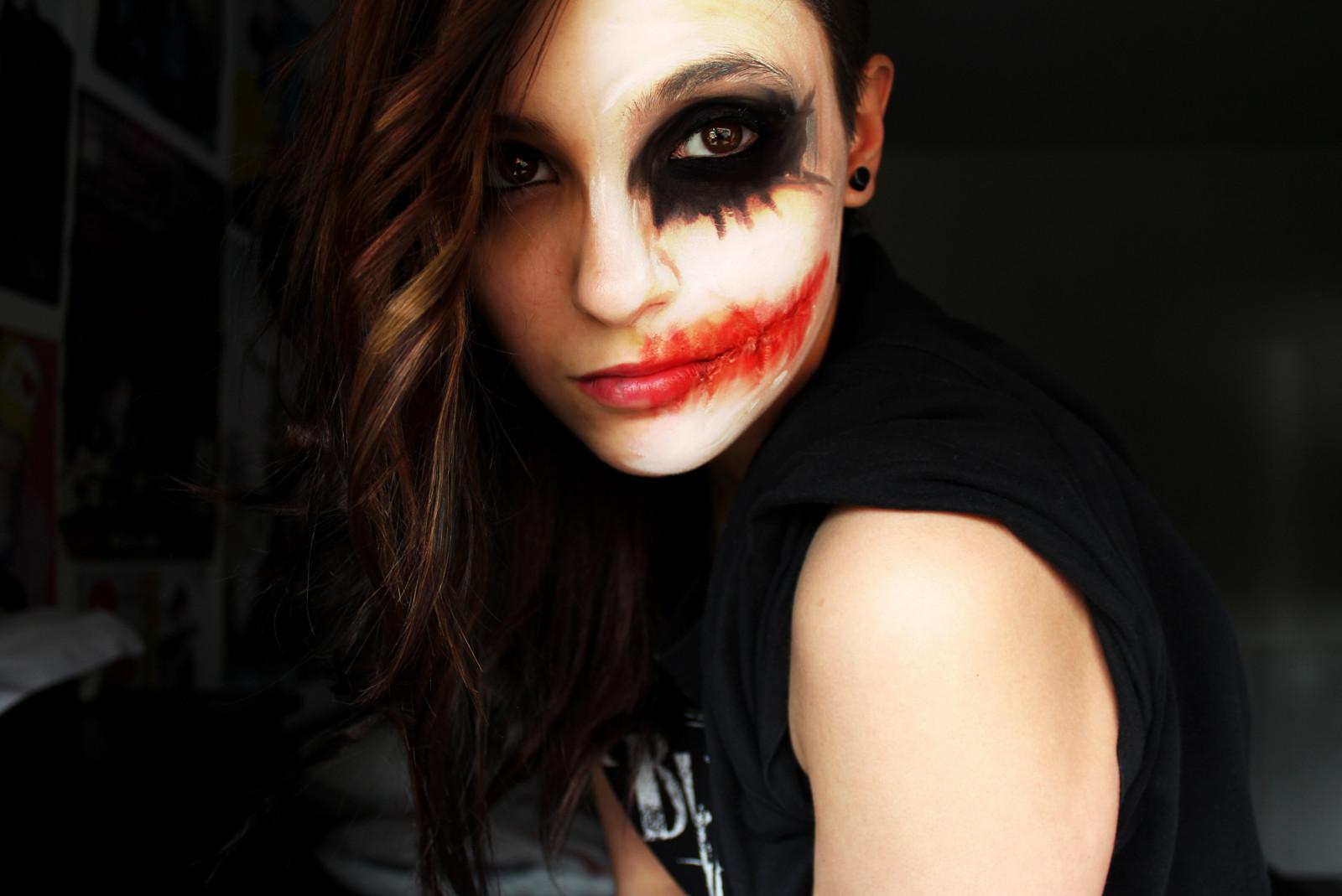 Wallpaper  Face Women Model Portrait Glasses Red Makeup Joker Fashion Clothing Head ...