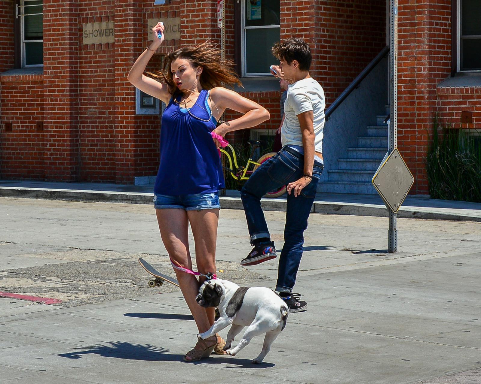 Wallpaper sports people street legs shadow shorts road blue