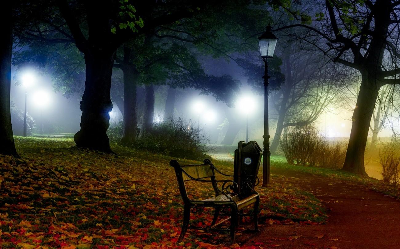 лучший картинки осень скамейки фонарь менее стойкий