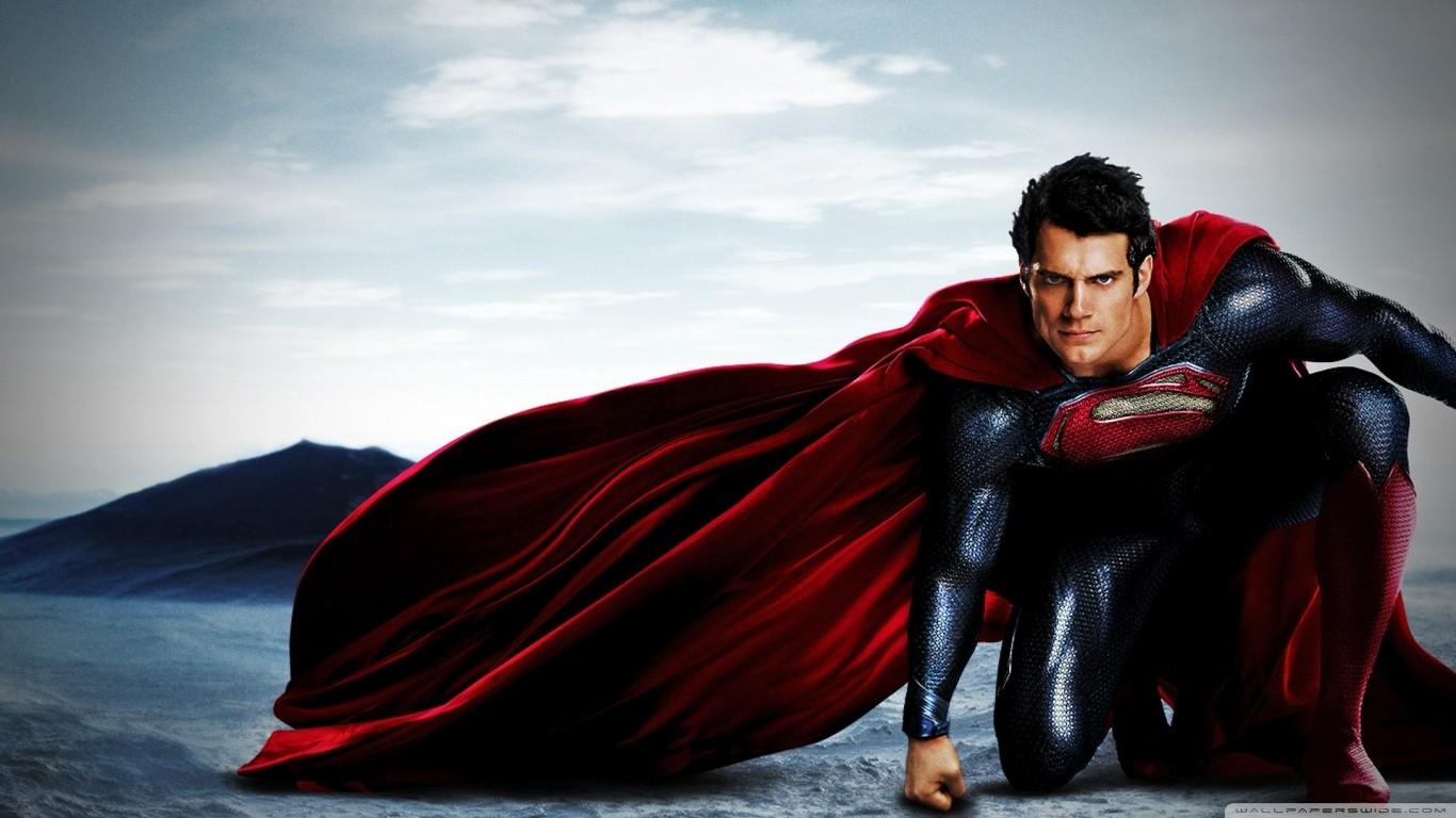 Wallpaper Red Superhero Superman Fictional Character 1366x768