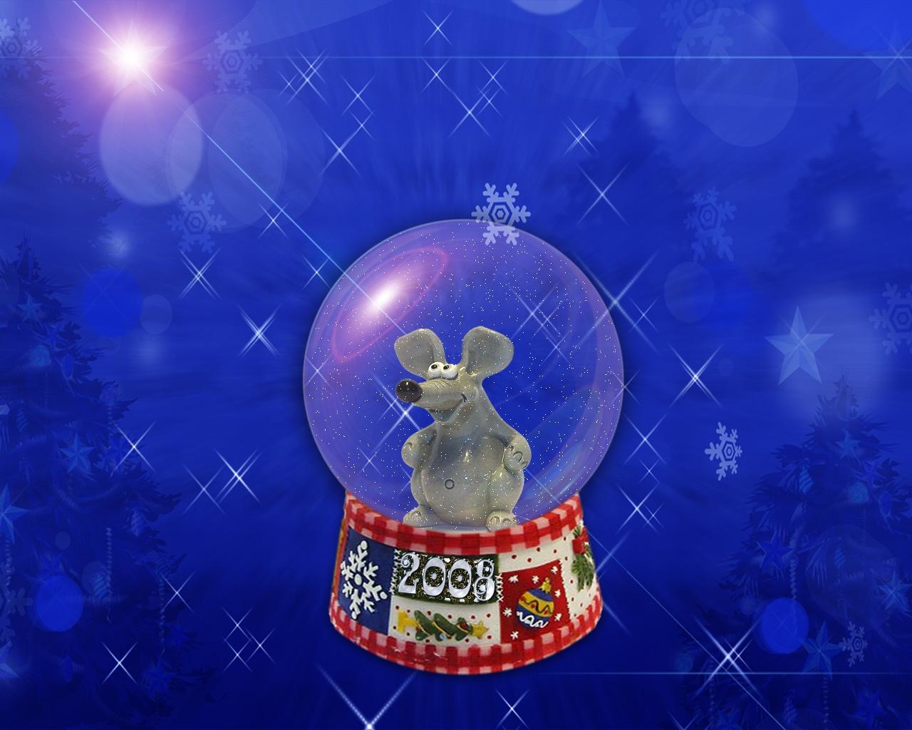 утверждают новогодние обои на рабочий стол год мыши только дизайнерская