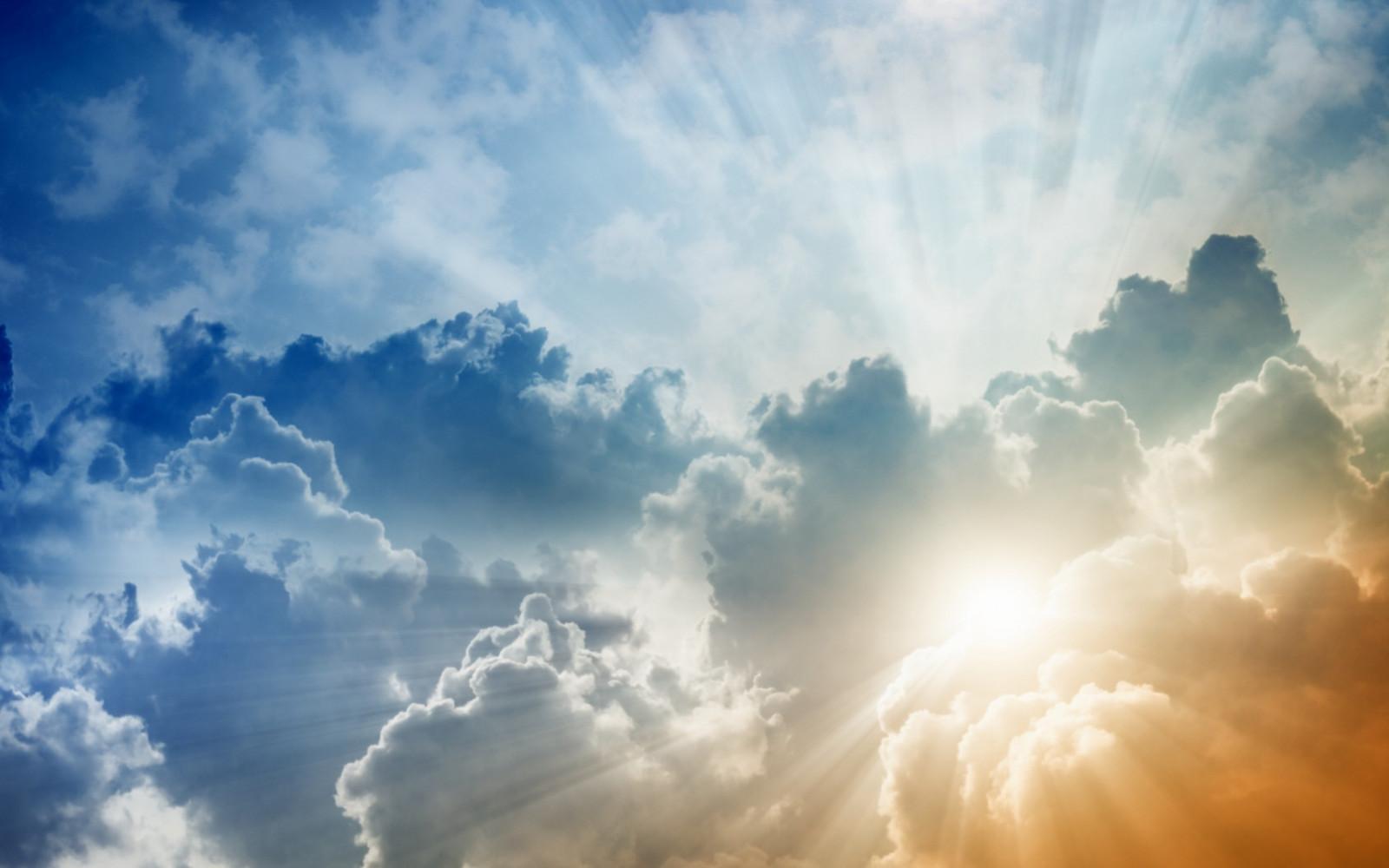 Wallpaper : sinar matahari, langit, awan-awan, pagi ...