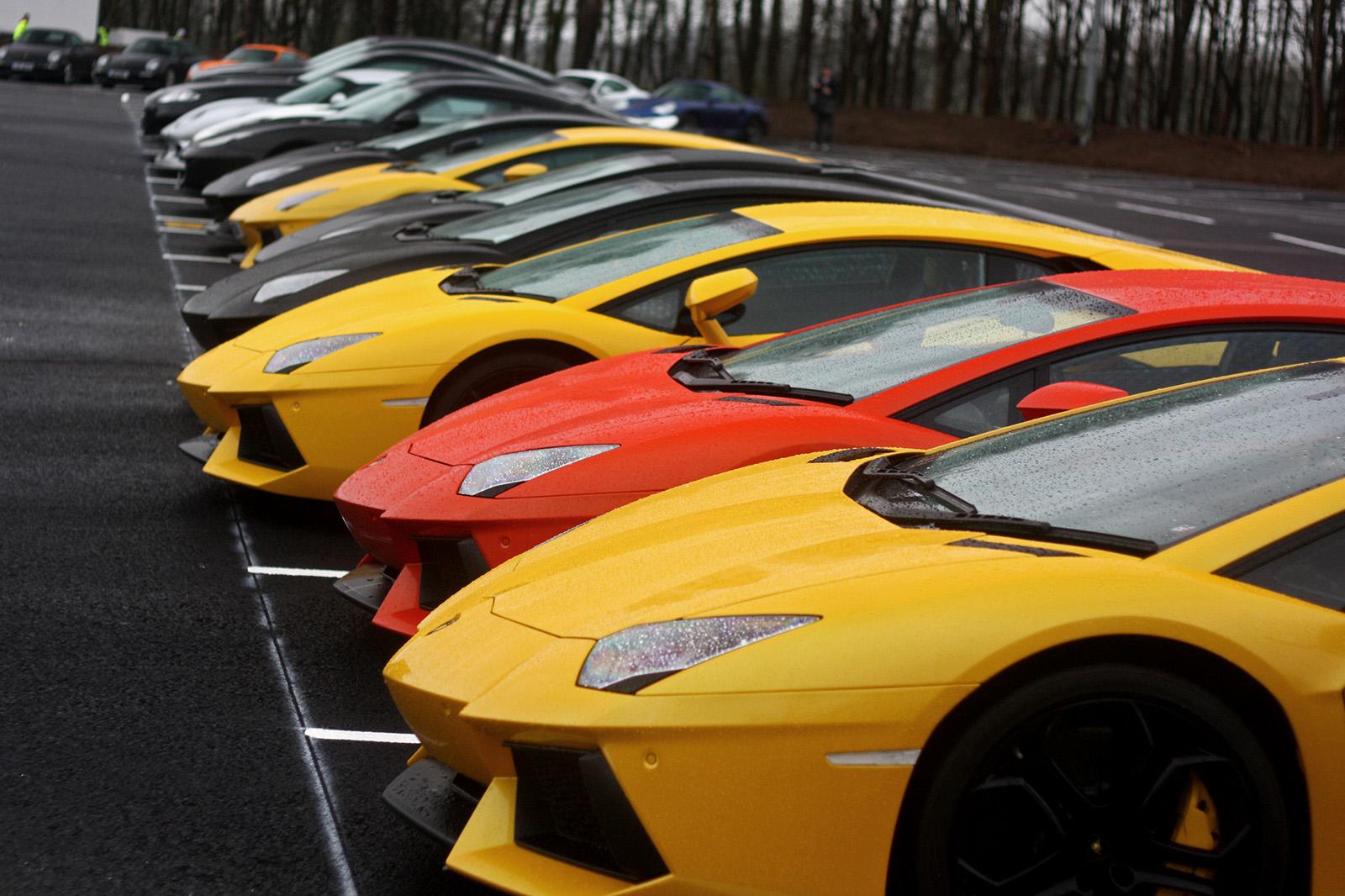 Wallpaper Black Yellow Lamborghini Aventador Orange Orion