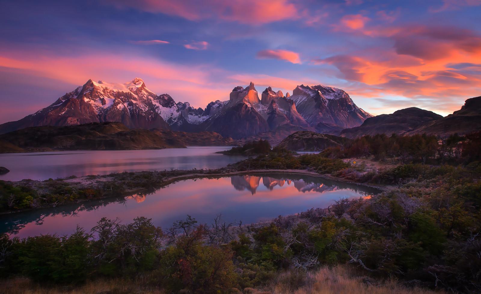 Montañas Nevadas En La Patagonia: Fondos De Pantalla : Sudamerica, Patagonia, Montañas De