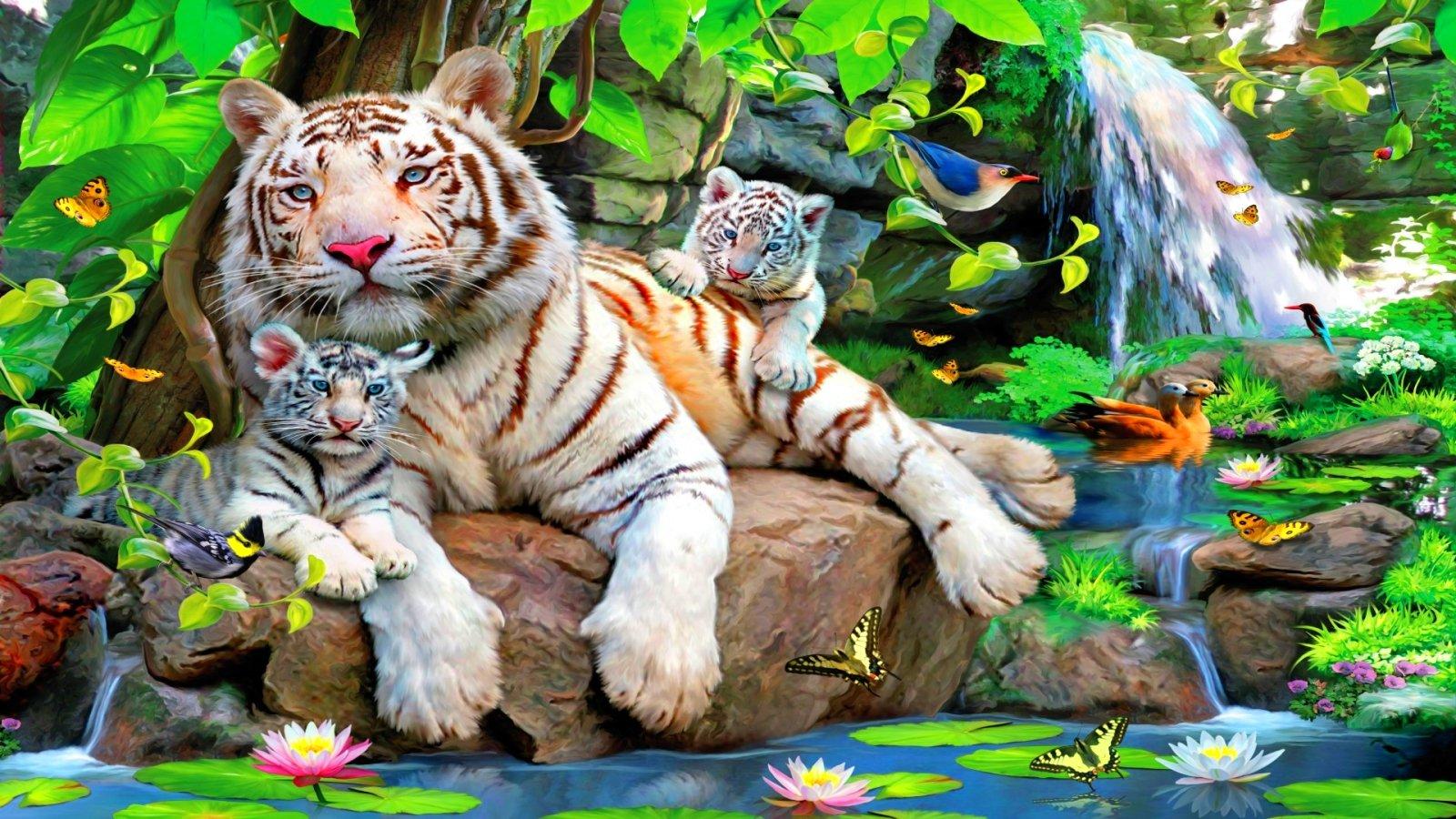 обои на телефон тигрята фотообои мужчина, конечно же