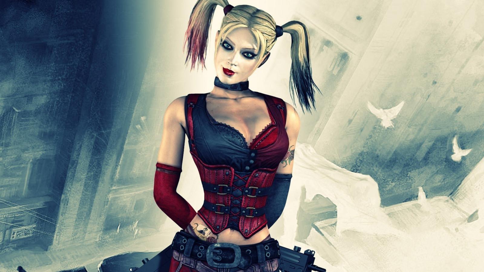 Wallpaper : illustration, video games, anime, Harley Quinn