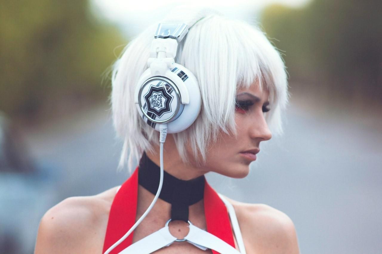 Wallpaper Women Cosplay Model White Hair Anime Costumes