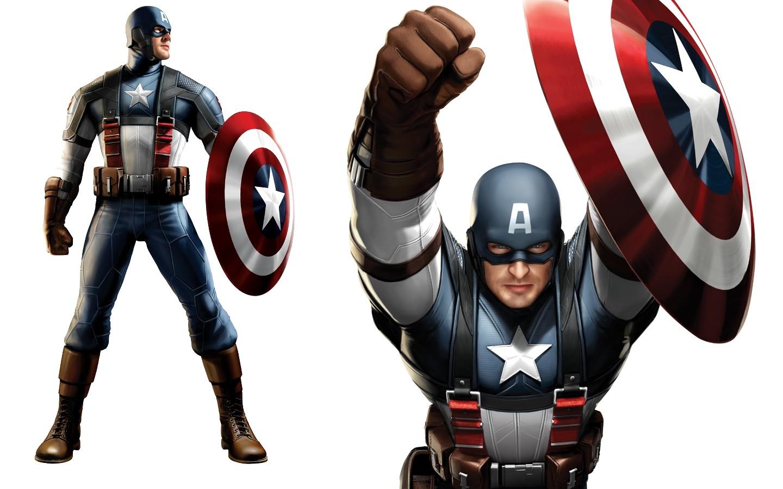 Fond d 39 cran fond blanc super h ros marvel comics capitaine am rique bouclier jouet - Captain america fille ...