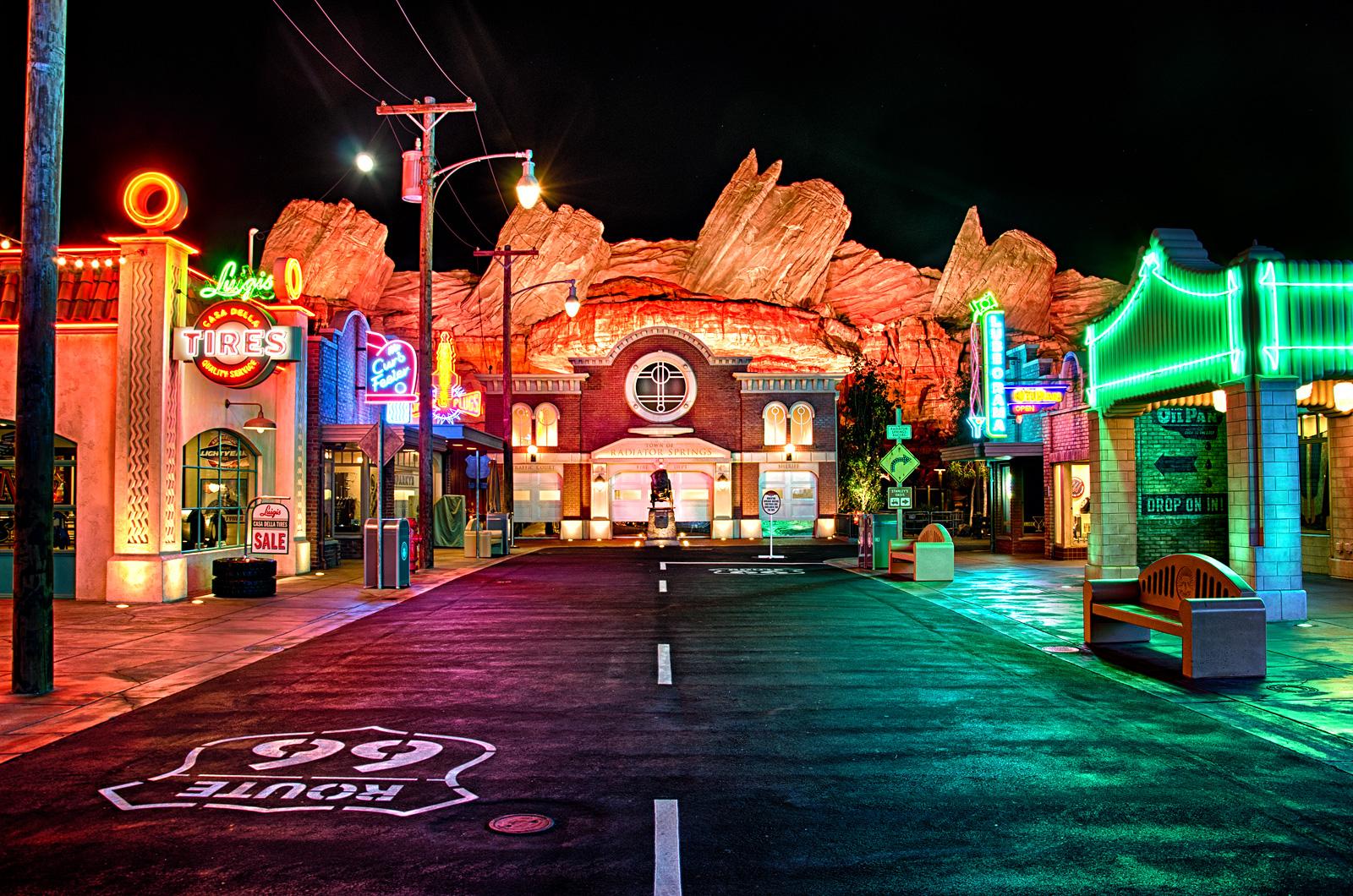Wallpaper Night Evening Hdr California Christmas Disney Christmas Lights Light Color Christmas Decoration Anaheim Disneycaliforniaadventure Disneylandresort Carsland 1600x1060 724857 Hd Wallpapers Wallhere