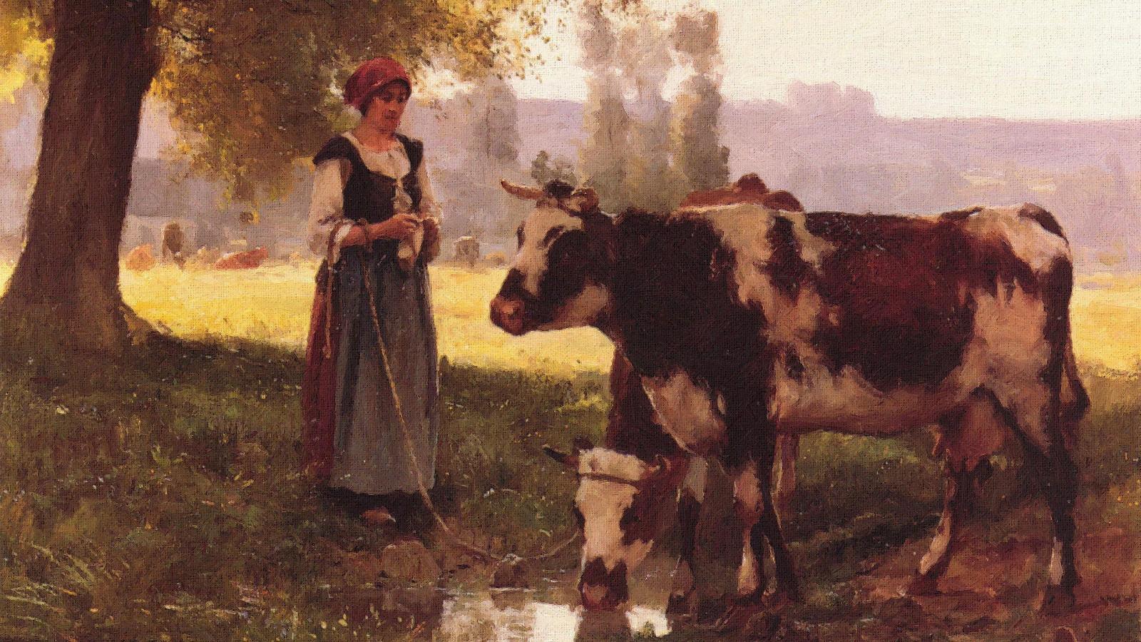 удобный хозяин с коровой картинка стволом пушки
