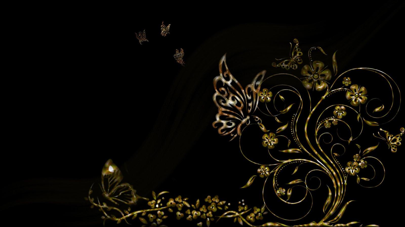 Картинки золотом на черном фоне, для февраля