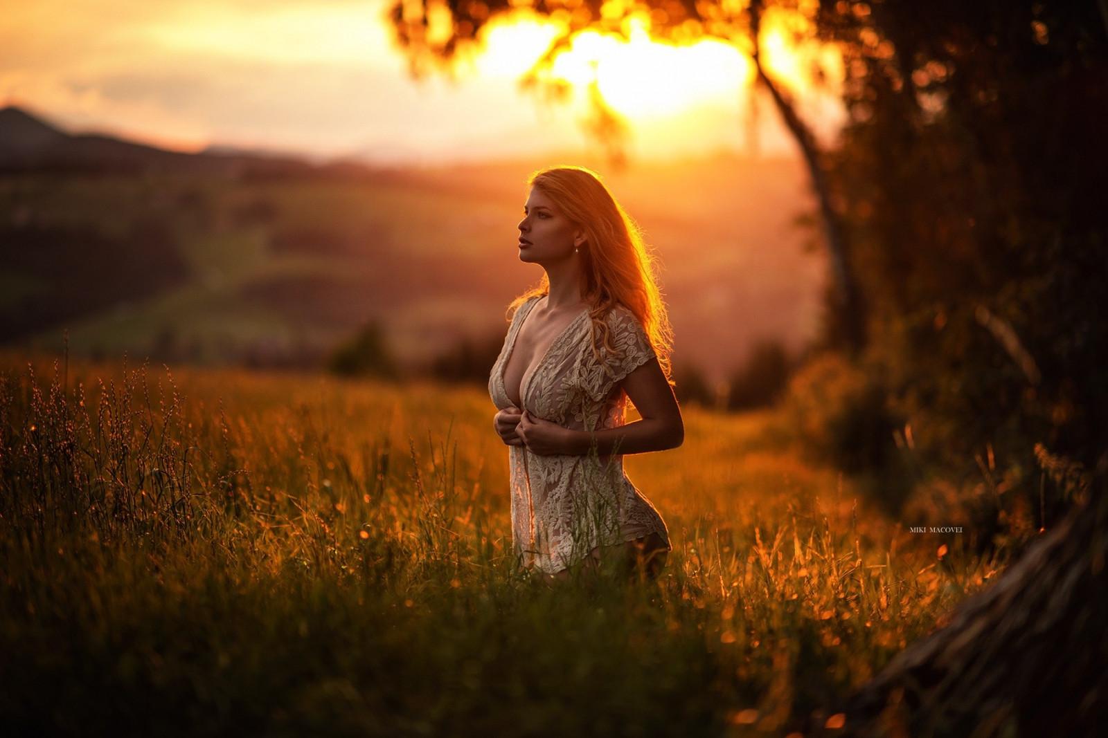 Wallpaper  Sunlight, Women Outdoors, Model, Blonde -5727