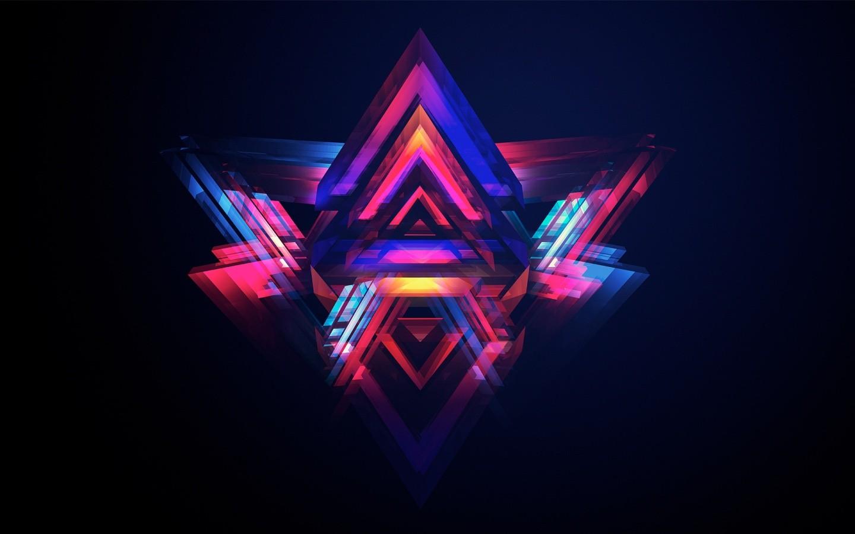デスクトップ壁紙 図 抽象 対称 三角形 サークル ファセット