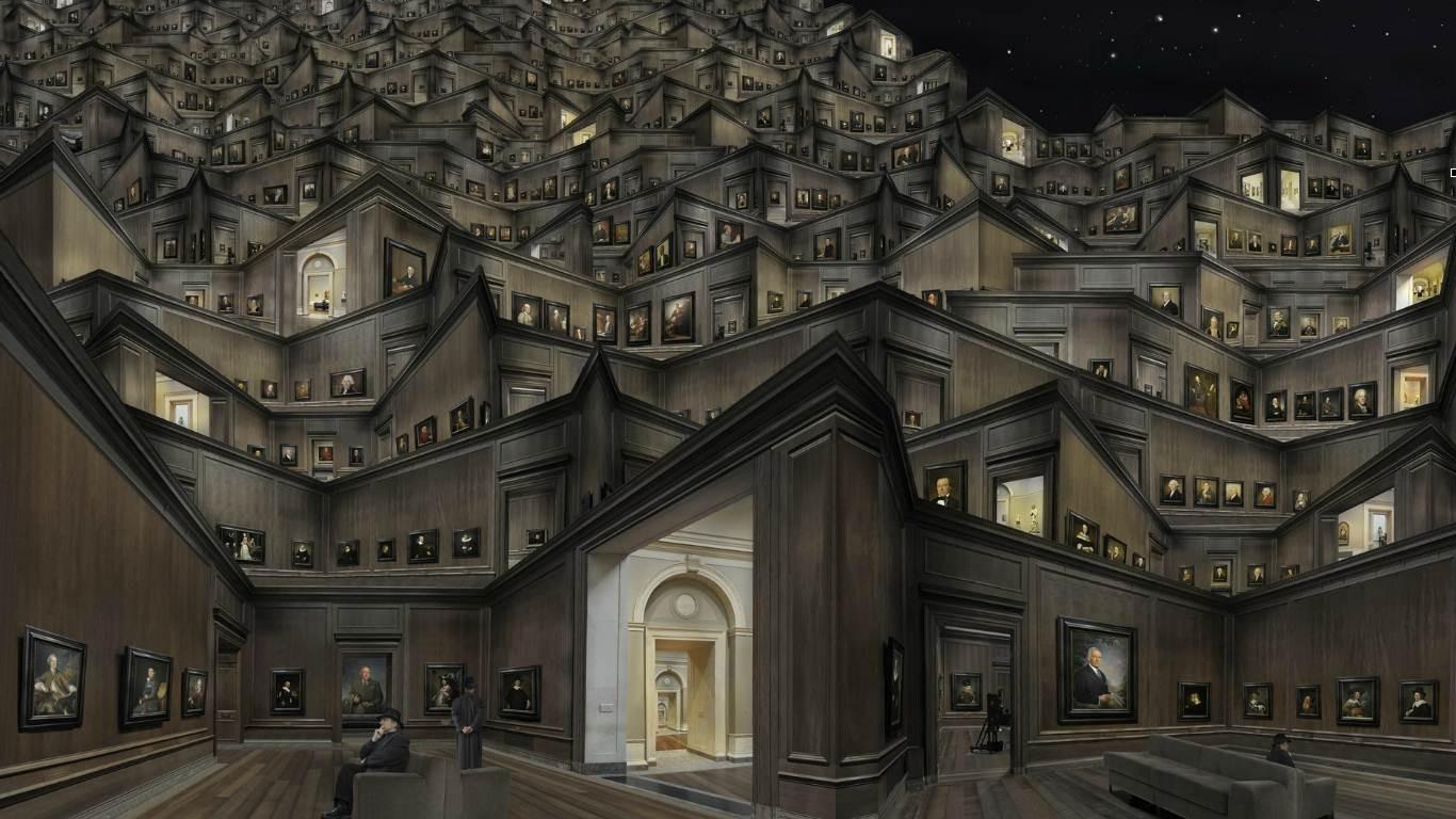 Fondos de pantalla : hombres, pintura, arte digital, ventana ...