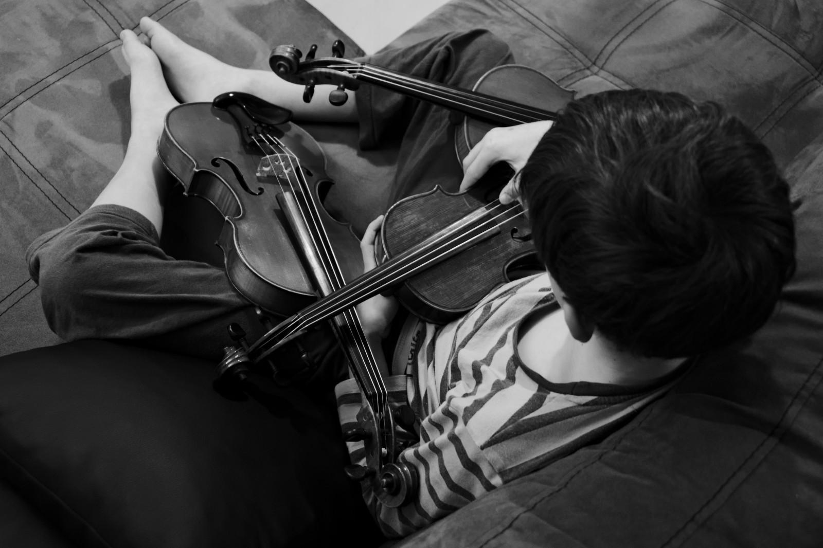 Sfondi Monocromo Bambini Strumento Musicale Musicista Sony