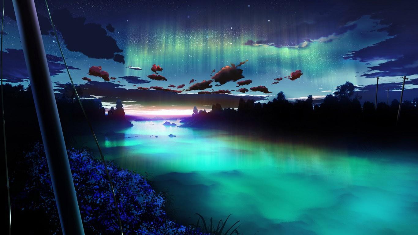 Landscape Digital Art Night Reflection Sky Underwater Atmosphere Aurora Dreamy Light Darkness Screenshot Of Earth