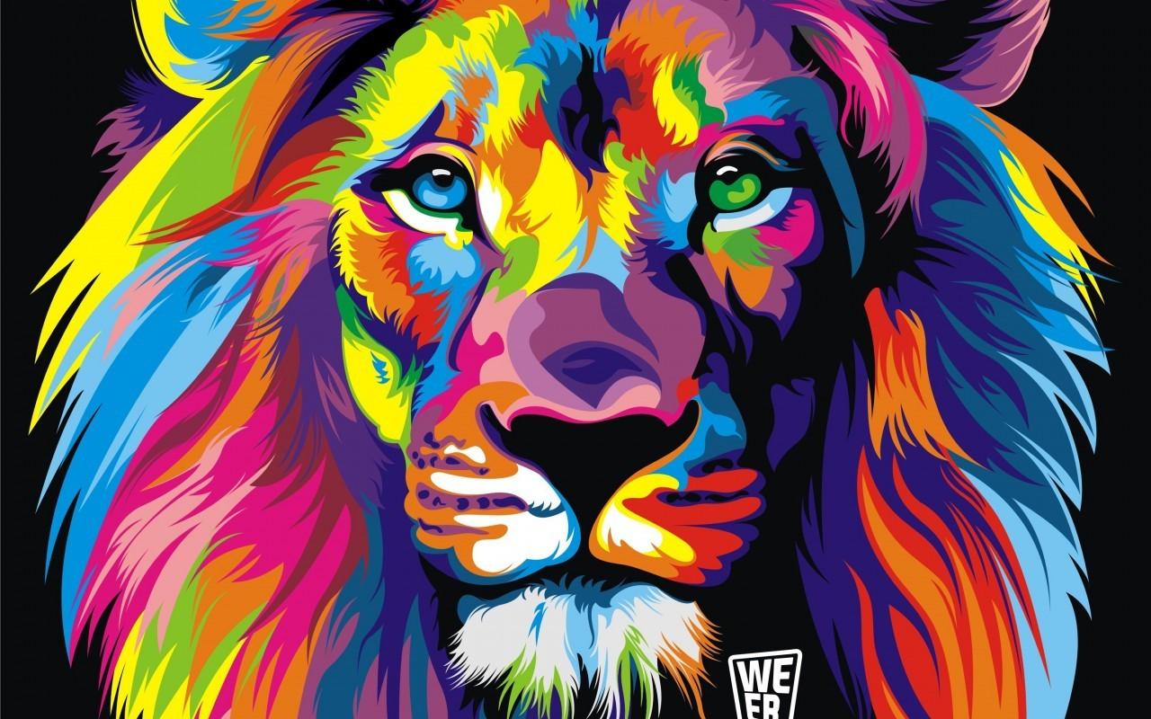 Imagini De Fundal Colorat Ilustrare Abstract Tigru Leu