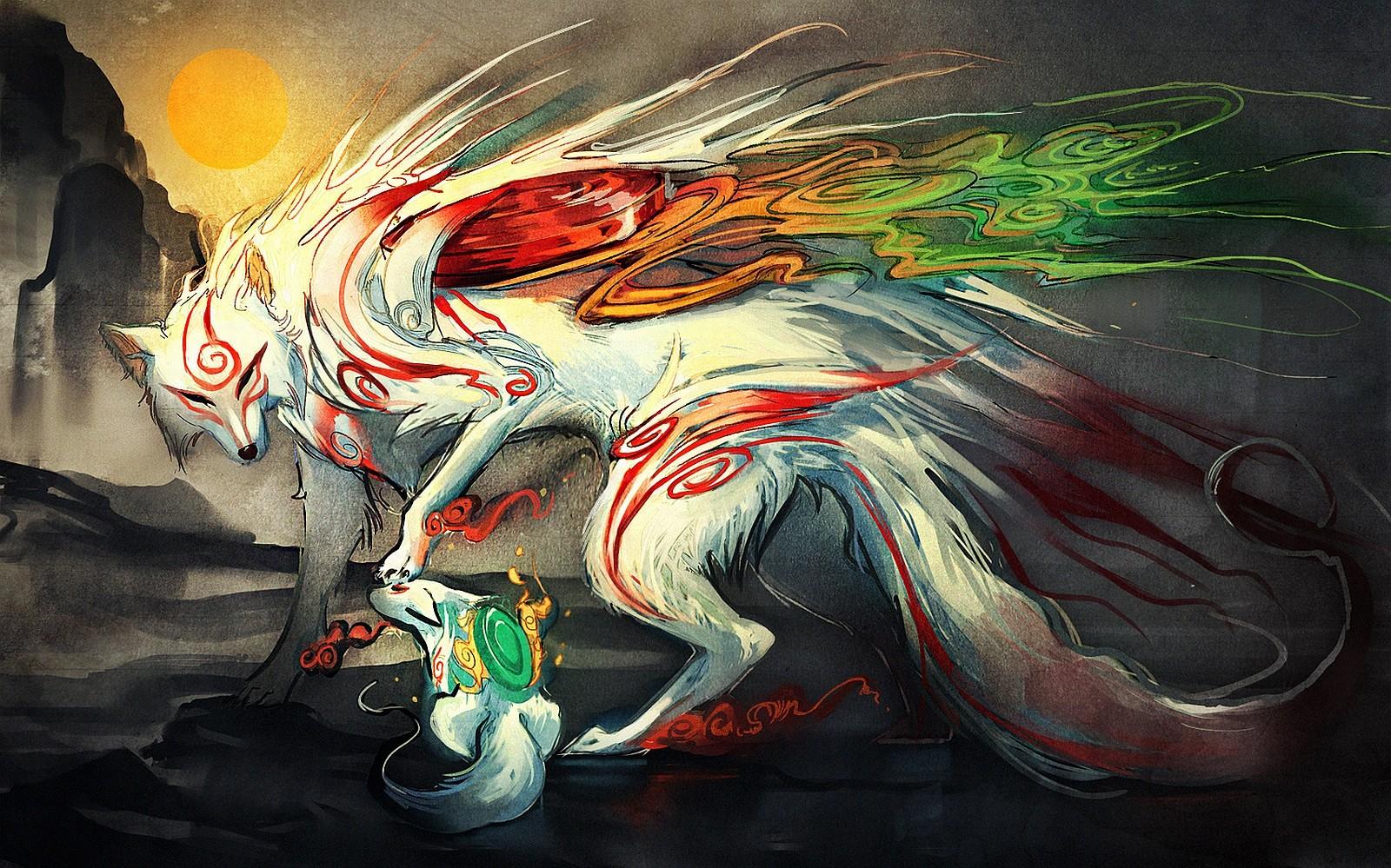 Hintergrundbilder Illustration Anime Comics Okami Kunst