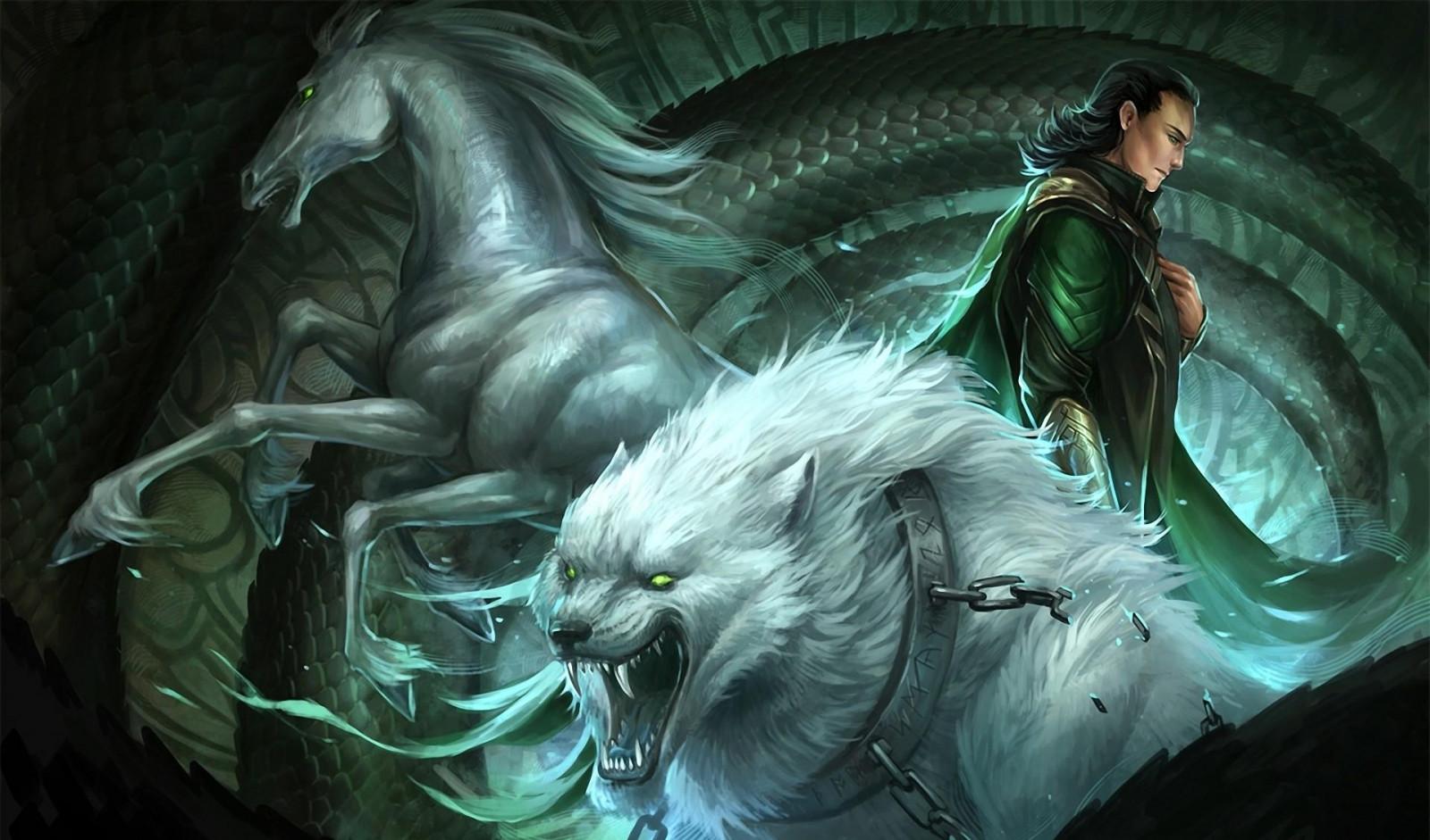 Sfondi illustrazione cavallo serpente catene lupo - Mitologia greca mitologia cavallo uomo ...