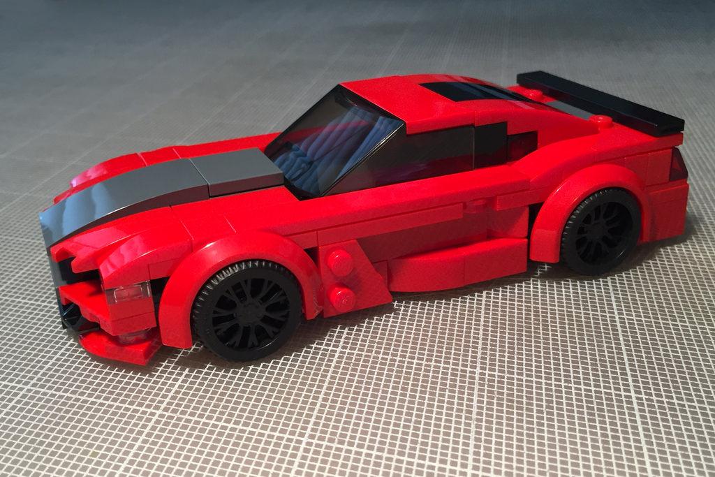 fond d 39 cran rouge lego voiture de sport gu mod le l 39 chelle voiture performante. Black Bedroom Furniture Sets. Home Design Ideas