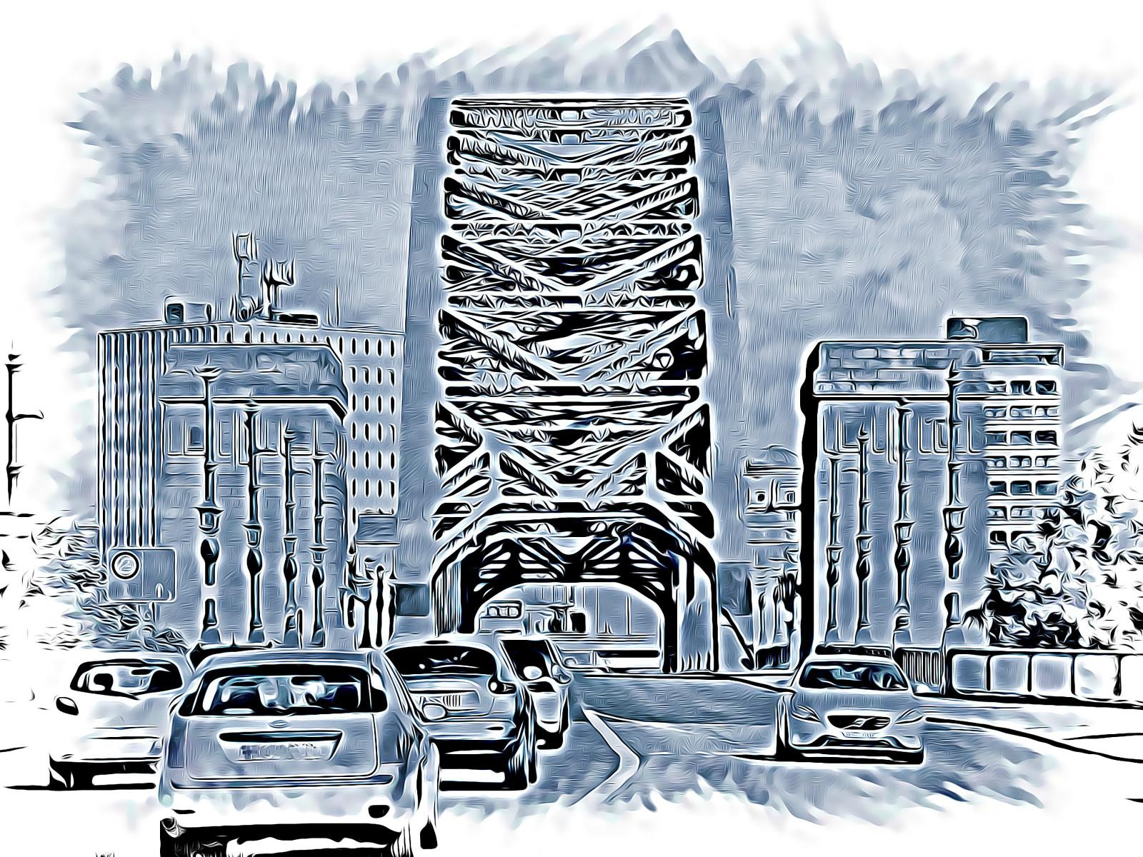 Wallpaper Gambar Lukisan Ilustrasi Mobil Kaki Langit