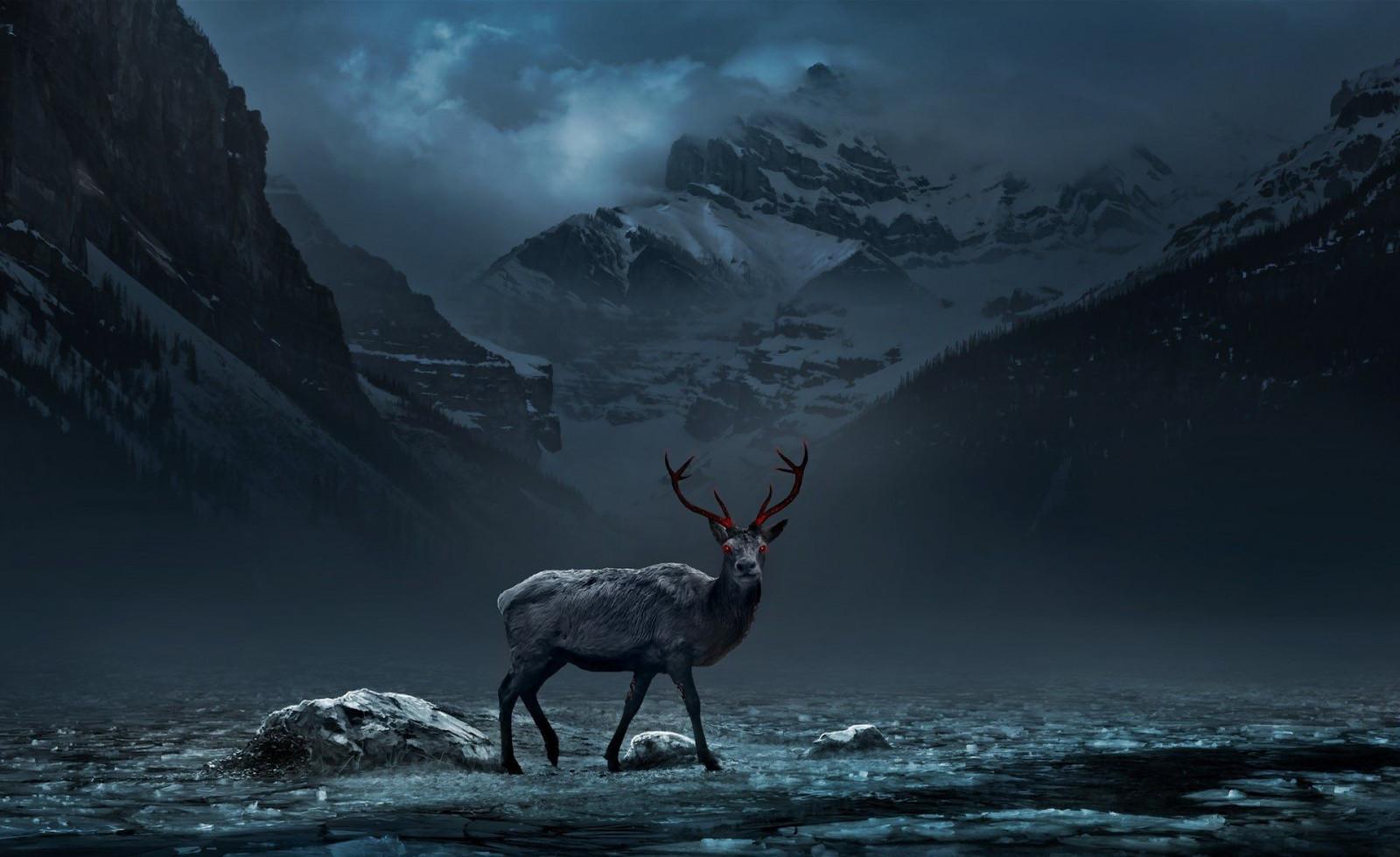 鹿 デジタル アート