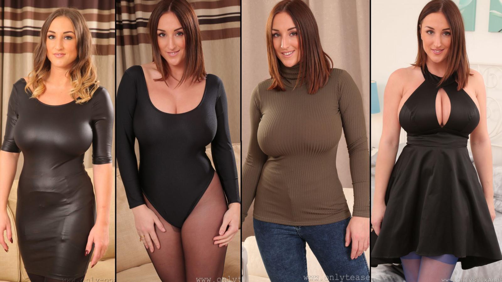 Wallpaper  Model, Black Dress, Big Boobs, Pantyhose -9770