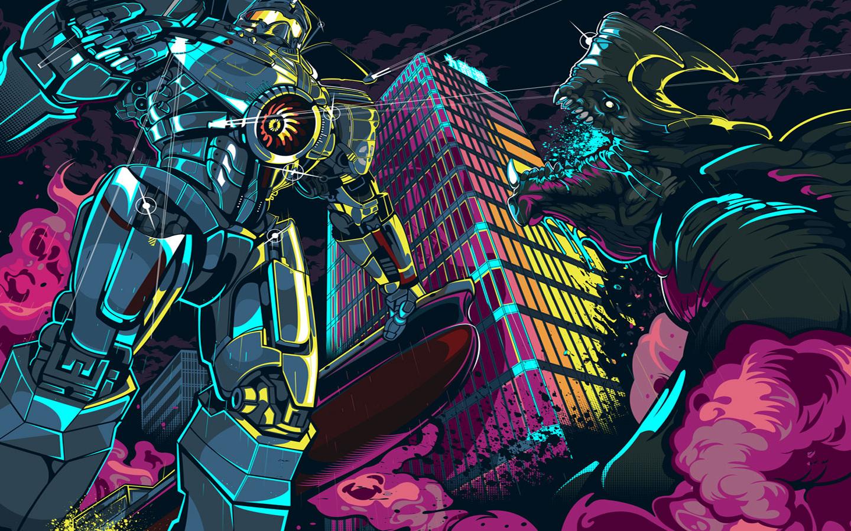 wallpaper : illustration, anime, comics, pacific rim, kaiju