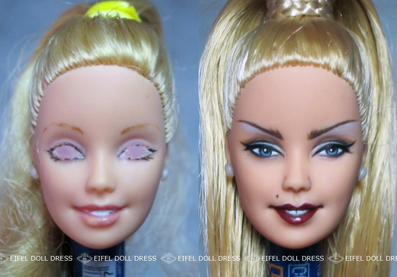 Wallpaper Face Blonde Makeup Ponytail Toy Doll Custom Iris