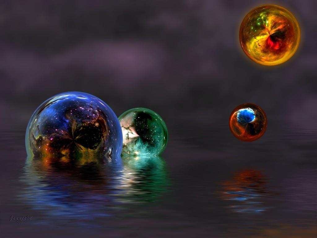 デスクトップ壁紙 夜 抽象 惑星 スペース 反射 光 色 闇 スクリーンショット コンピュータの壁紙 地球の雰囲気 宇宙空間 天体 液体バブル 1024x768 Larkam デスクトップ壁紙 Wallhere