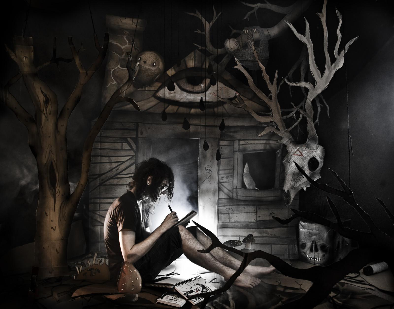 Wallpaper Drawing Painting Illustration Portrait Eyes Dark