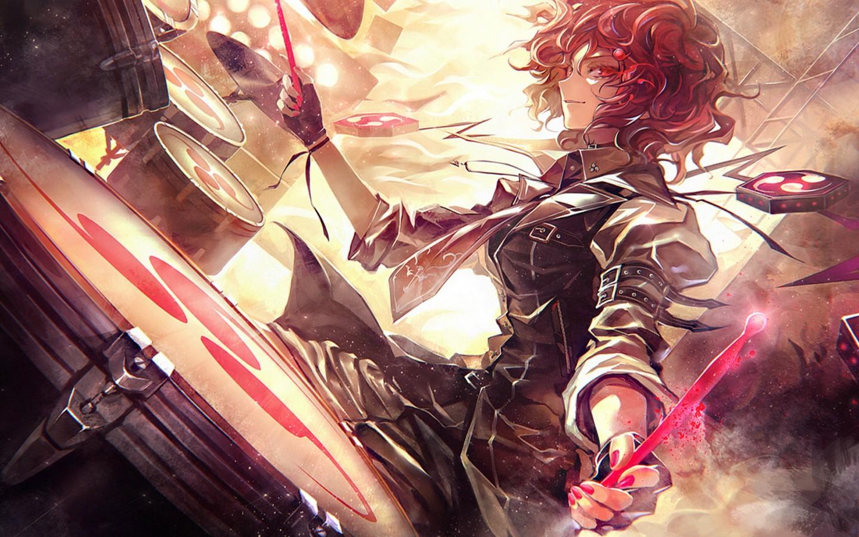 Wallpaper Video Games Redhead Anime Girls Musical
