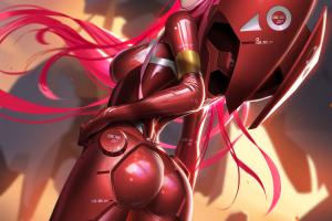 digital art artwork Zero Two Darling in the FranXX anime anime girls tight clothing pink hair Darling in the FranXX 1332799