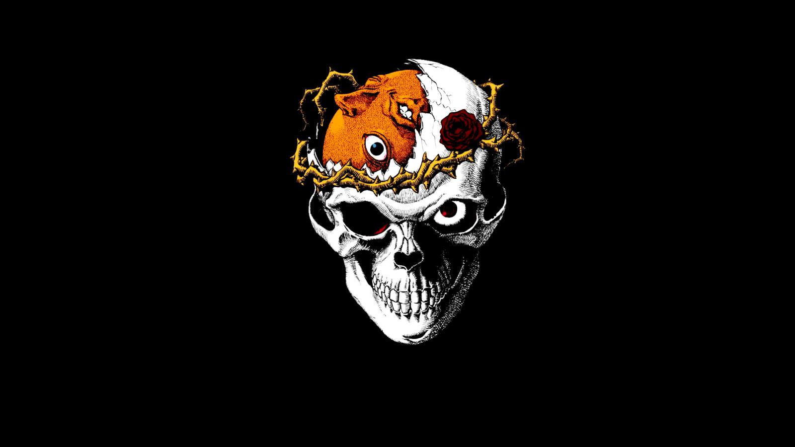 Wallpaper : illustration, cartoon, Berserk, skull, Kentaro ...