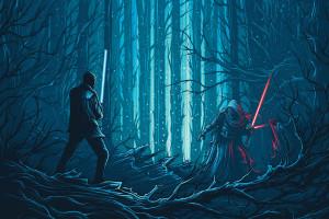 Star Wars Star Wars The Force Awakens Kylo Ren Dan Mumford artwork concept art lightsaber science fiction 77615